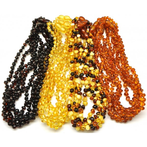 Amber teething necklaces | Lot of 20 Baroque beads Baltic amber teething necklaces